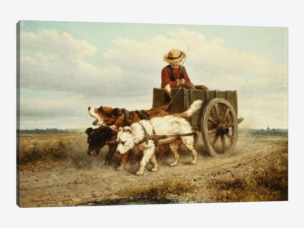 The Dog Cart by Henriette Ronner-Knip 1-piece Canvas Art