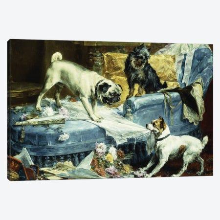 Playing Havoc, 1894  Canvas Print #BMN5951} by Charles van den Eycken Art Print