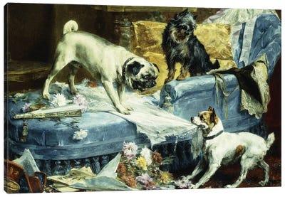 Playing Havoc, 1894  Canvas Art Print
