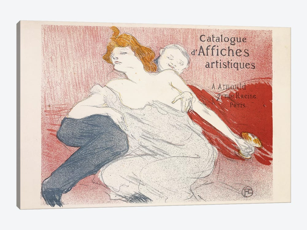 Debauche, Deuxieme Planche, 1896  by Henri de Toulouse-Lautrec 1-piece Canvas Artwork