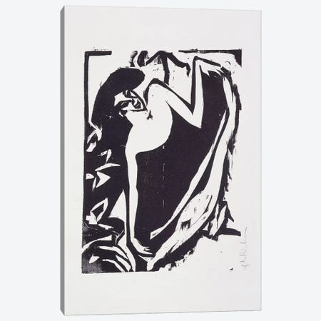Dancer with Raised Skirt, 1909  Canvas Print #BMN5955} by Ernst Ludwig Kirchner Canvas Art