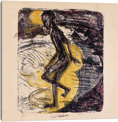 Man Rising from the Sea; Ins Meer Seigender Mann, 1913  Canvas Art Print
