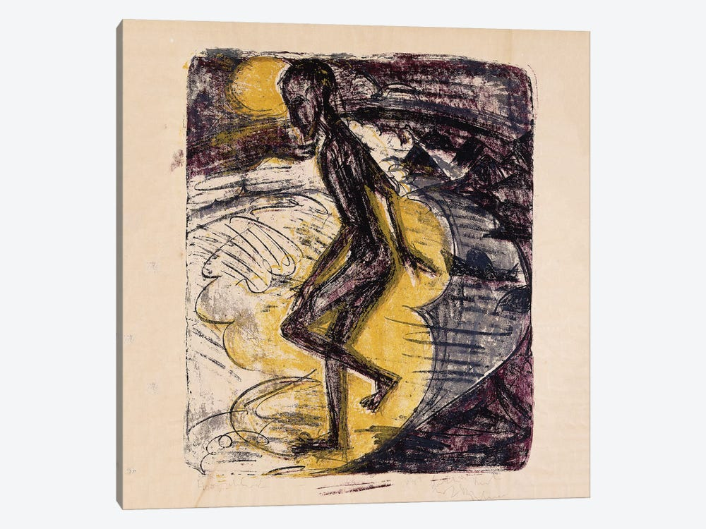 Man Rising from the Sea; Ins Meer Seigender Mann, 1913  by Ernst Ludwig Kirchner 1-piece Canvas Artwork