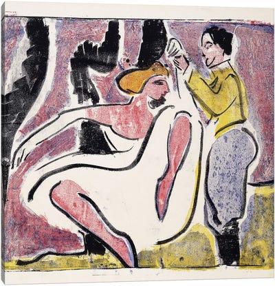Russian Dancers; Russisches Tanzerpaar,  Canvas Art Print