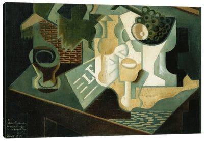 The Table in Front of the Building; La Table Devant le Battiment, 1919  Canvas Print #BMN5958