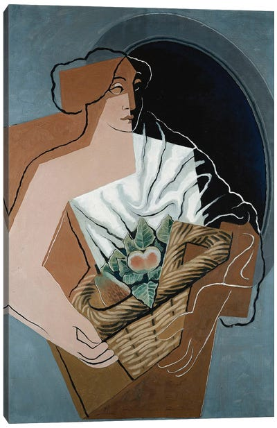 Woman with Basket; La Femme au Panier, 1927  Canvas Art Print