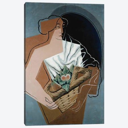 Woman with Basket; La Femme au Panier, 1927  Canvas Print #BMN5959} by Juan Gris Canvas Print