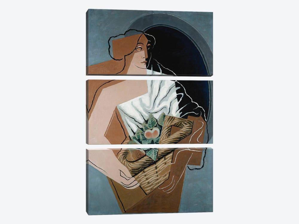 Woman with Basket; La Femme au Panier, 1927  by Juan Gris 3-piece Canvas Art Print