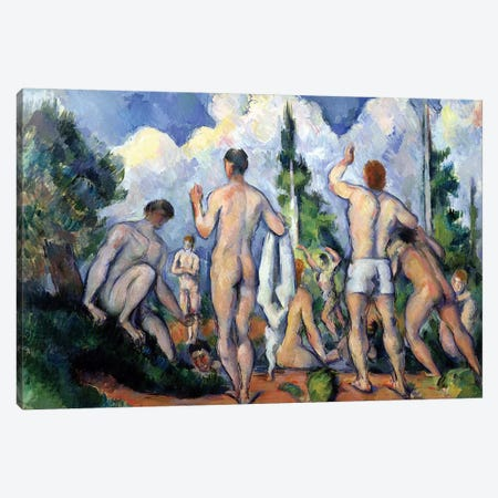 The Bathers, c.1890-92  Canvas Print #BMN595} by Paul Cezanne Canvas Art Print