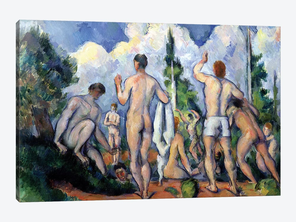 The Bathers, c.1890-92  by Paul Cezanne 1-piece Art Print