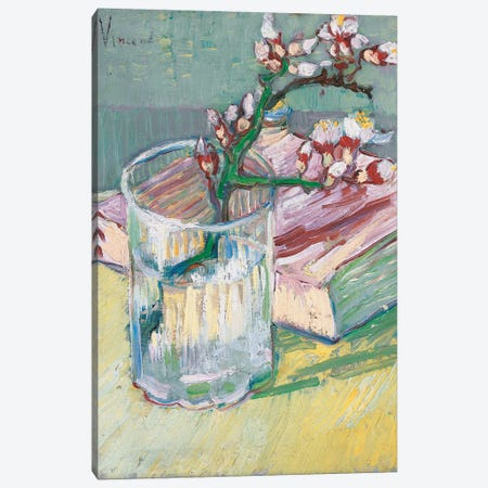 Still life, a flowering almond branch, 1888  Canvas Print #BMN5960} by Vincent van Gogh Canvas Artwork