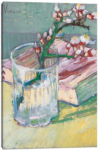 Still life, a flowering almond branch, 1888  Canvas Art Print