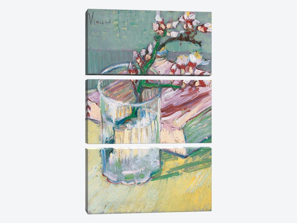 Still life, a flowering almond branch, 1888  by Vincent van Gogh 3-piece Art Print