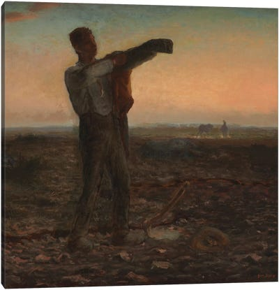 The End of the Day, Effect of Evening  Canvas Art Print