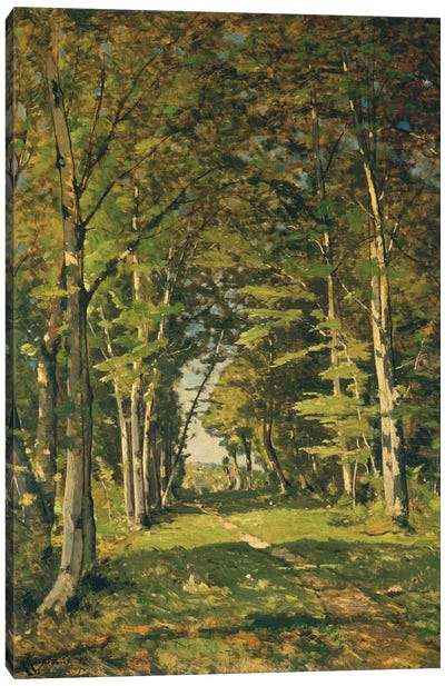 The Woods of Famars, 1887 Canvas Art Print