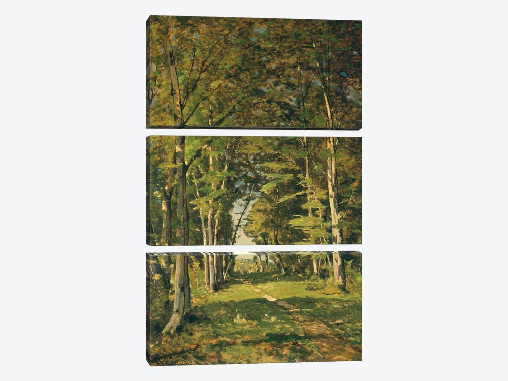 The Woods of Famars, 1887  by Henri-Joseph Harpignies 3-piece Art Print