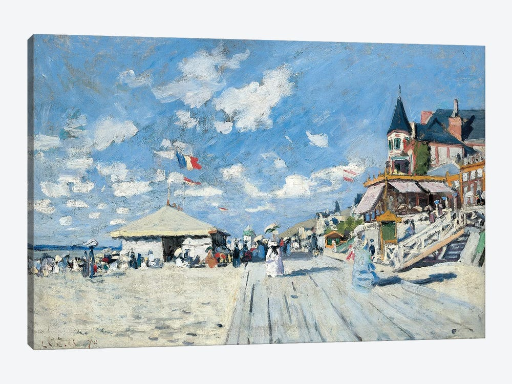 On the Beach at Trouville, 1870  by Claude Monet 1-piece Canvas Art Print