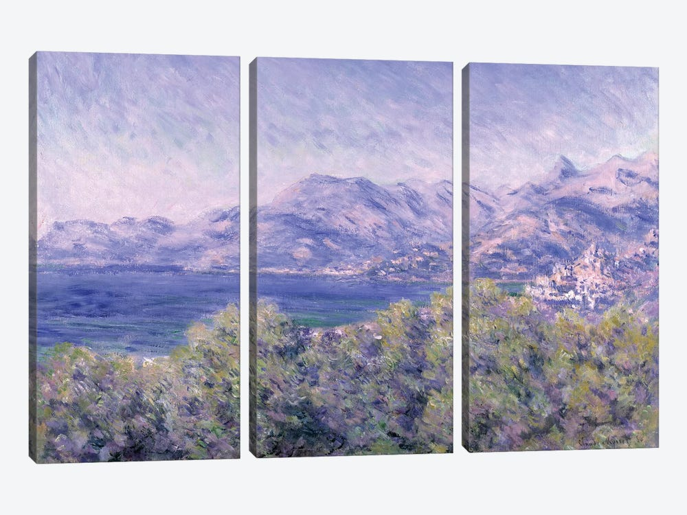 View of Ventimiglia, 1884  by Claude Monet 3-piece Canvas Wall Art