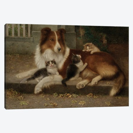 Best of Friends, 1906  Canvas Print #BMN5970} by Wilhelm Schwar Art Print