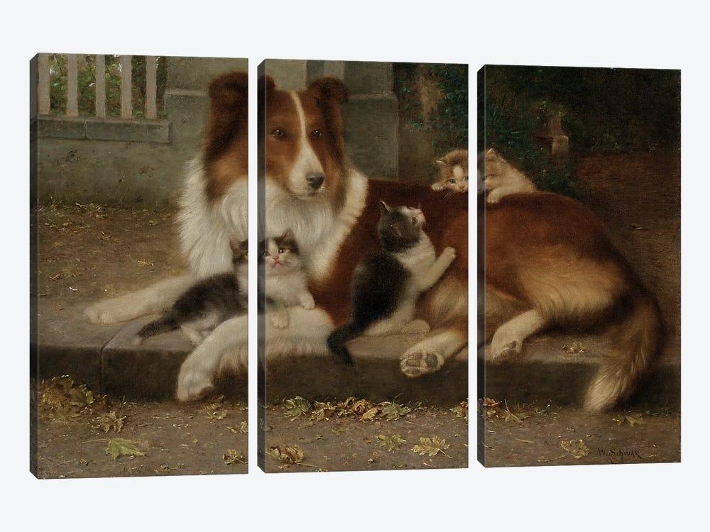 Best of Friends, 1906  by Wilhelm Schwar 3-piece Canvas Artwork