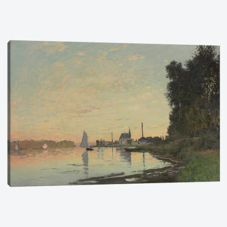 The End of the Afternoon, Argenteuil, 1872  Canvas Print #BMN5971} by Claude Monet Canvas Art Print