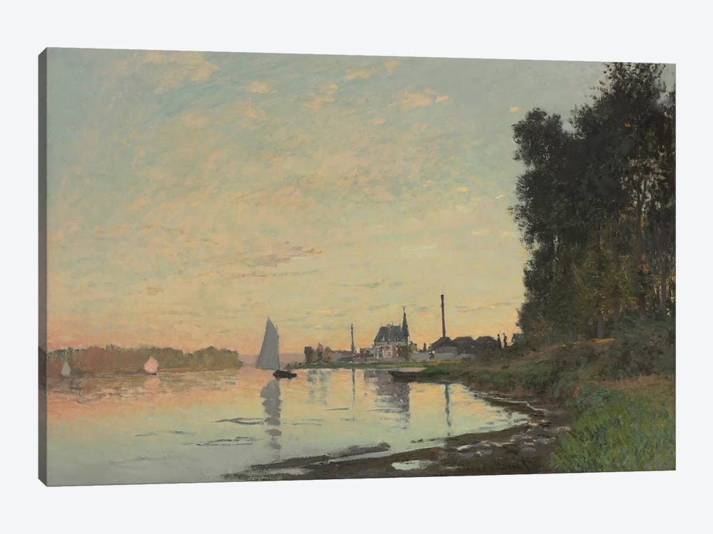 The End of the Afternoon, Argenteuil, 1872  by Claude Monet 1-piece Art Print