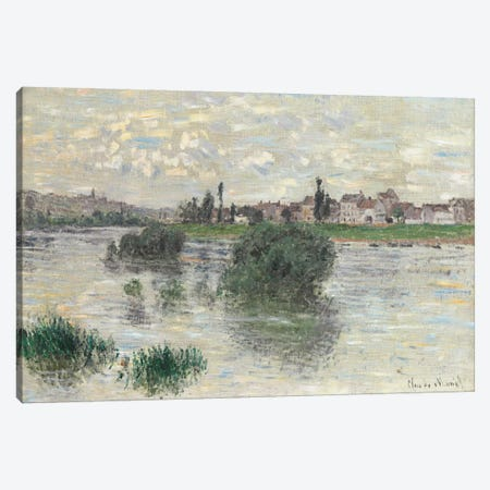 The Seine at Lavacourt, 1879  Canvas Print #BMN5973} by Claude Monet Art Print