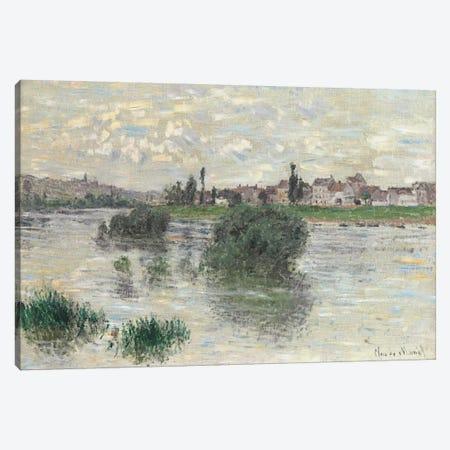 The Seine at Lavacourt, 1879  3-Piece Canvas #BMN5973} by Claude Monet Art Print