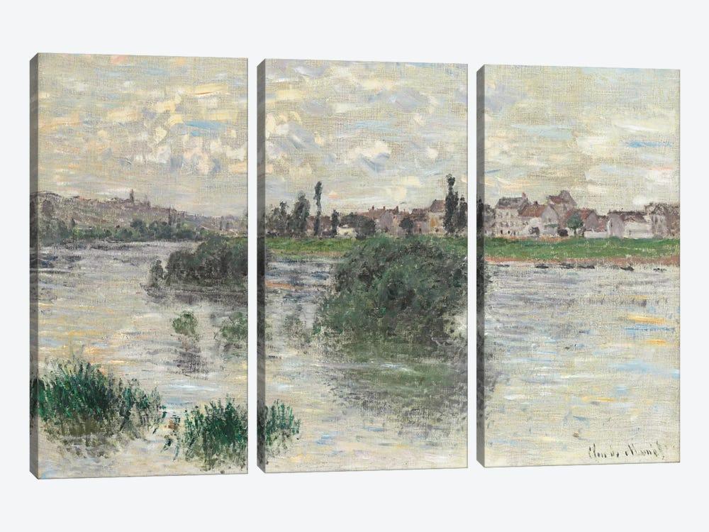 The Seine at Lavacourt, 1879  by Claude Monet 3-piece Art Print