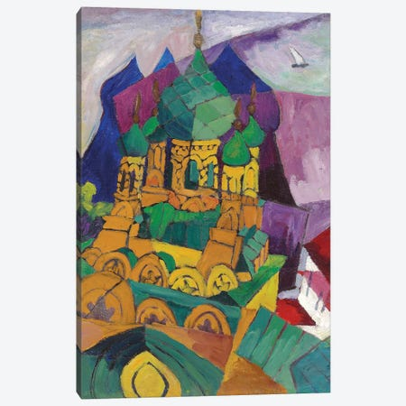 Church in Alupka, 1916  Canvas Print #BMN5975} by Aristarkh Vasilievic Lentulov Canvas Art