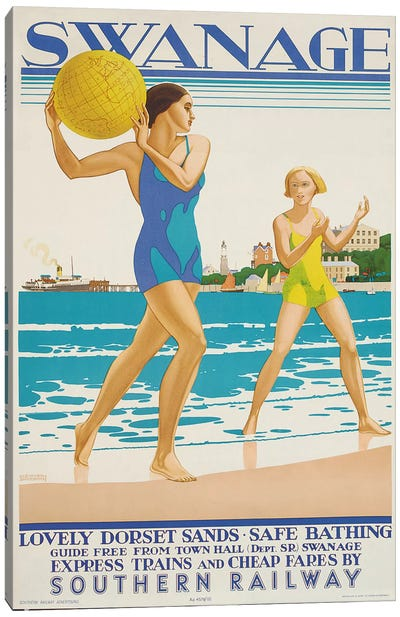 Swanage, 1938  Canvas Art Print