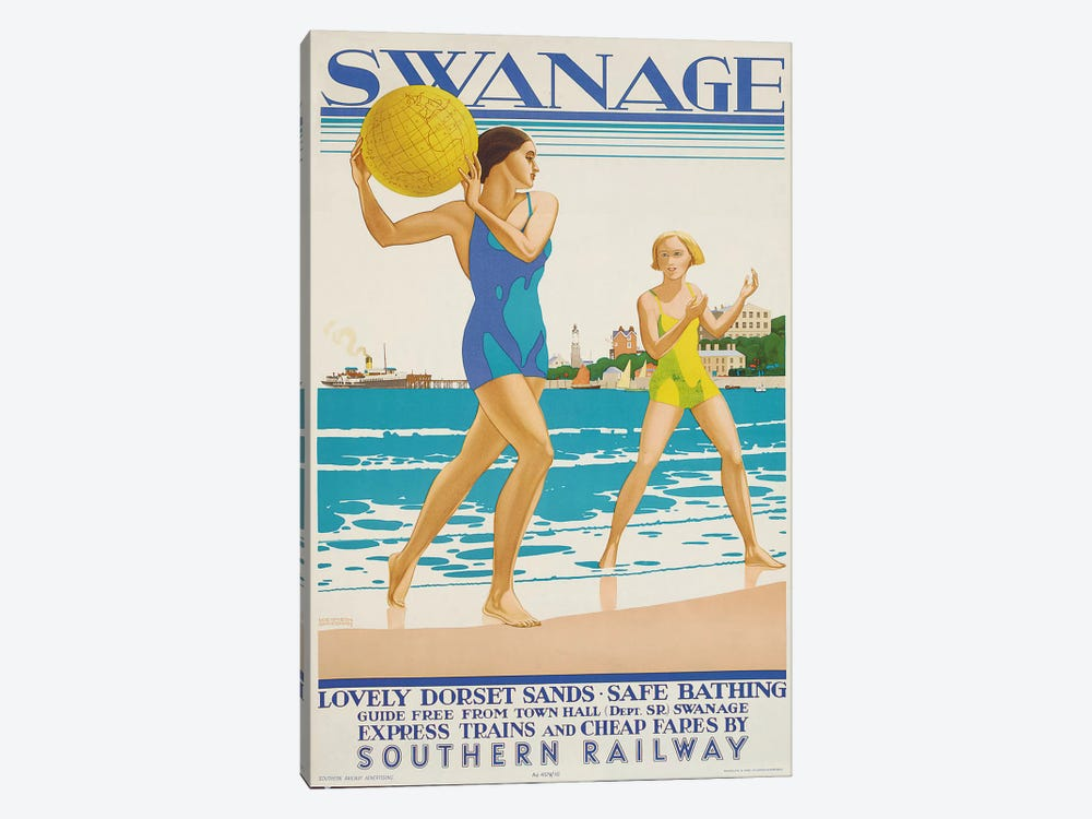 Swanage, 1938  by Kenneth Shoesmith 1-piece Canvas Artwork