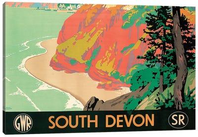 Seaton, Devon, 1930  Canvas Art Print