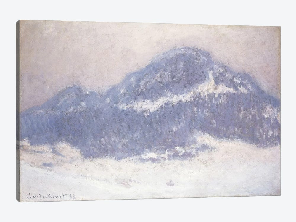 Mont Kolsaas, Misty Weather, 1895  by Claude Monet 1-piece Canvas Print