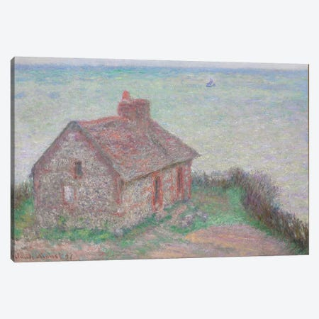 The Customs House, Pink Effect, 1897  Canvas Print #BMN5981} by Claude Monet Canvas Wall Art