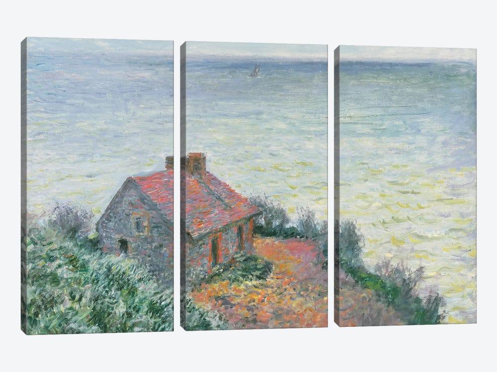 Customs Post at Dieppe, 1882  by Claude Monet 3-piece Canvas Art Print