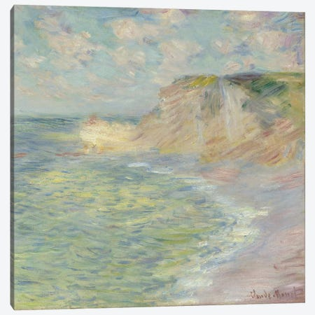 The Cliff Above, 1885  Canvas Print #BMN5983} by Claude Monet Canvas Wall Art