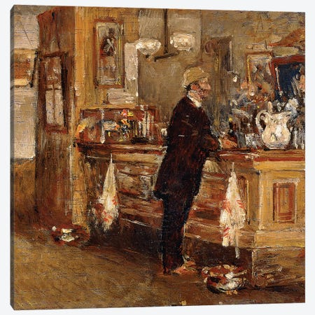 McSorley's Bar,  Canvas Print #BMN5984} by Childe Hassam Canvas Print