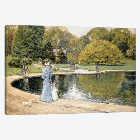 Central Park,  Canvas Print #BMN5985} by Childe Hassam Art Print