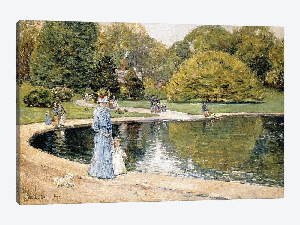 Central Park,  by Childe Hassam 1-piece Canvas Artwork