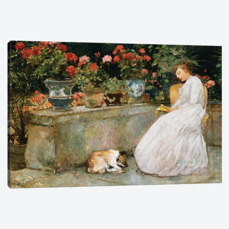 Reading, 1888  3-Piece Canvas #BMN5986} by Childe Hassam Canvas Print