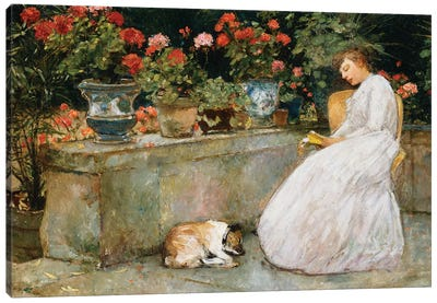 Reading, 1888  Canvas Art Print