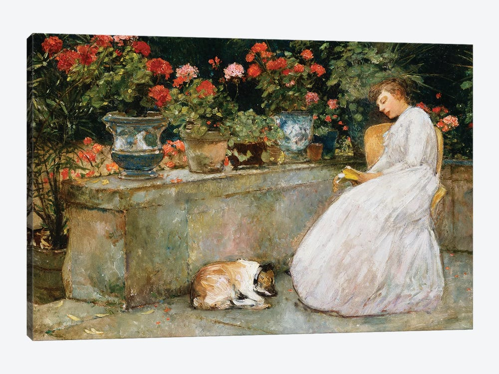 Reading, 1888  by Childe Hassam 1-piece Canvas Art Print