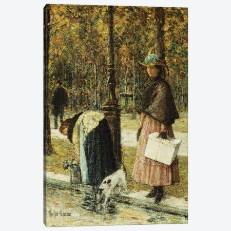 Evening, Champs-Elysees  Canvas Print #BMN5987} by Childe Hassam Canvas Print