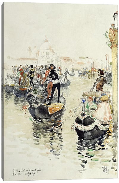 A Venetian Regatta, 1891  Canvas Art Print