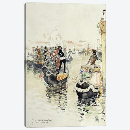 A Venetian Regatta, 1891  Canvas Print #BMN5989} by Childe Hassam Canvas Art