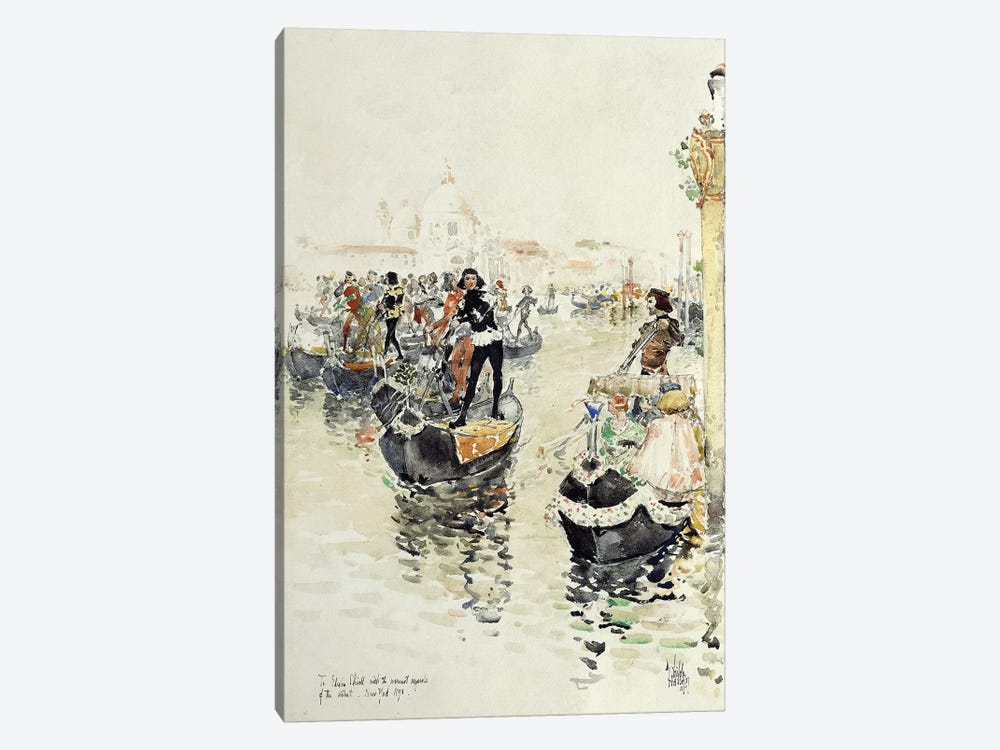 A Venetian Regatta, 1891  by Childe Hassam 1-piece Canvas Artwork