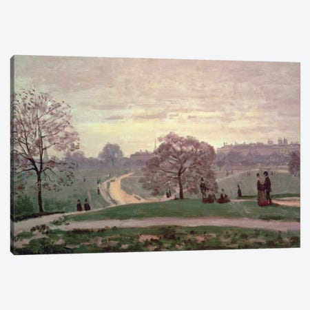 Hyde Park Canvas Print #BMN598} by Claude Monet Canvas Artwork