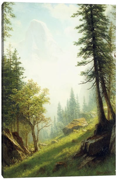 Among the Bernese Alps, by Albert Bierstadt Art Print