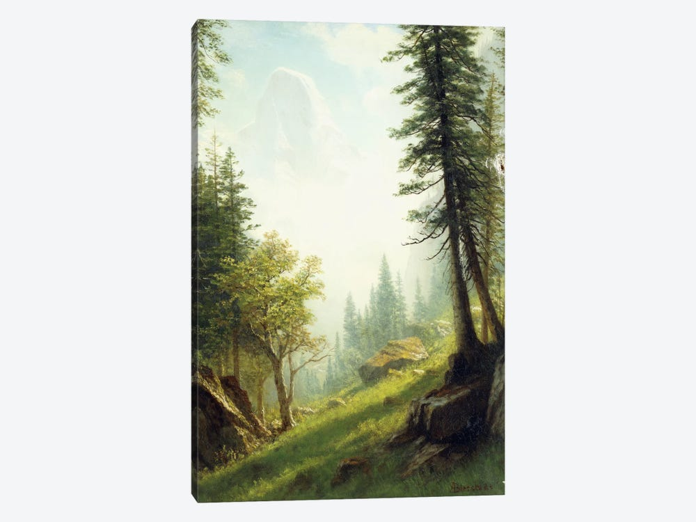Among the Bernese Alps, by Albert Bierstadt 1-piece Canvas Art Print